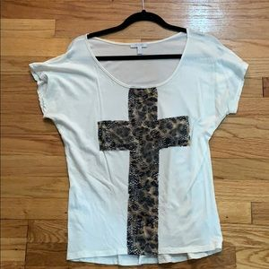 Cheetah Print Cross Tee